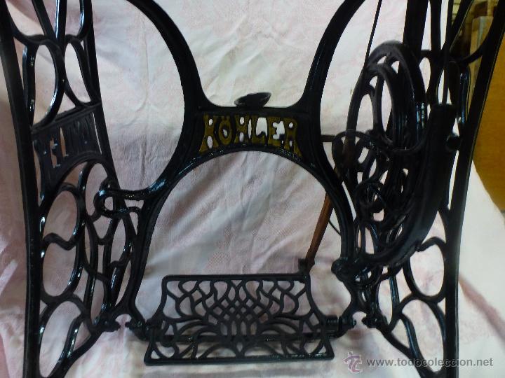 Antigüedades: Antigua máquina de coser Köhler - Foto 15 - 50520578
