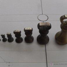 Antiguidades: JUEGO DE SIETE PESAS INGLESAS . Lote 50584547