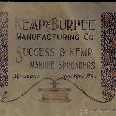Antigüedades: MECANIZACIÓN DEL CAMPO S. XIX KEMP @ BURPEE MANUFACTURING CO.. Lote 50585854