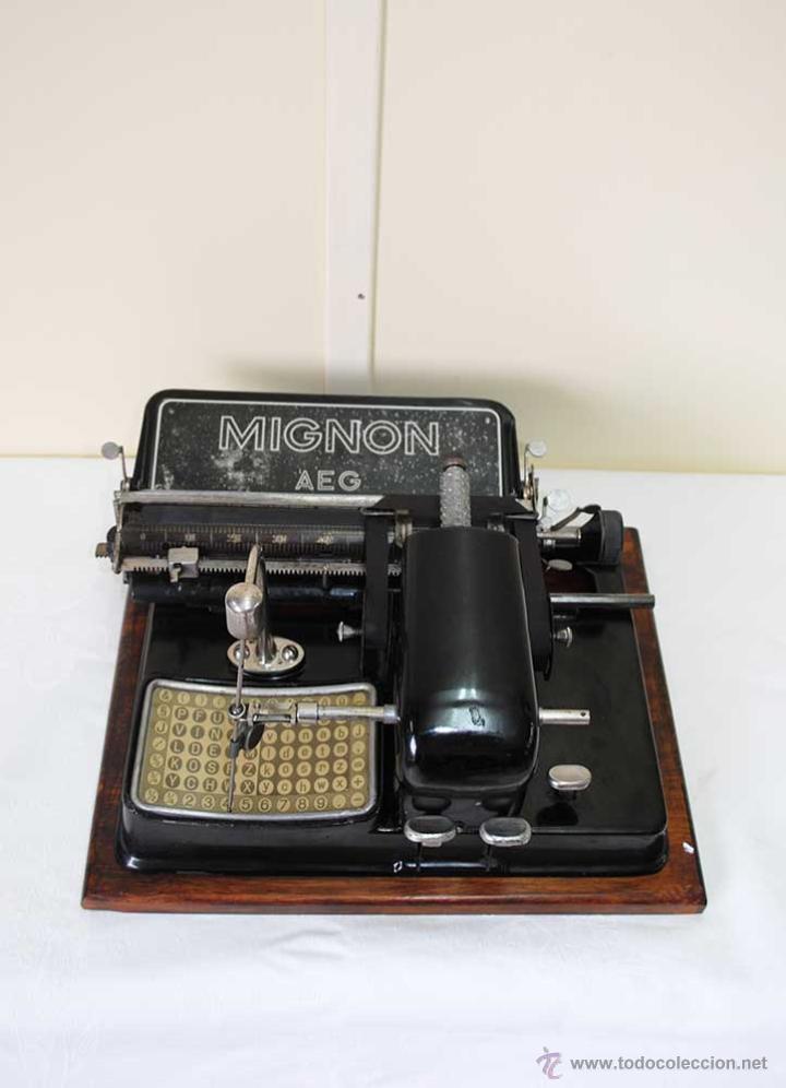 MÁQUINA DE ESCRIBIR MIGNON (Antigüedades - Técnicas - Máquinas de Escribir Antiguas - Mignon)