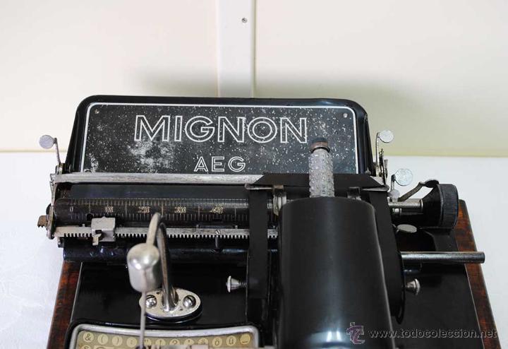 Antigüedades: MÁQUINA DE ESCRIBIR MIGNON - Foto 3 - 50586674