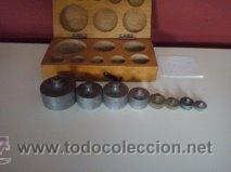 Antigüedades: ANTIGUA CAJA CON 8 PESAS EN BRONCE Nº6 100% COMPLETO Y ORIGINAL - Foto 5 - 50606468