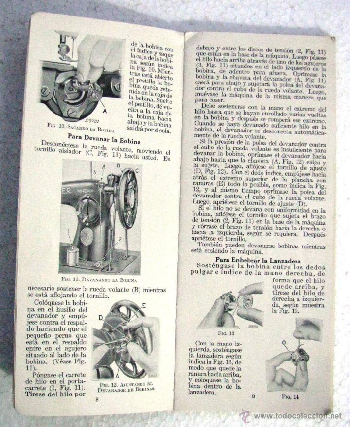 antiguo manual original instrucciones uso y cui - Comprar Máquinas ...