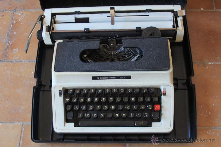 Antigüedades: Máquina de escribir antigua marca Silver Reed - Foto 2 - 50645630