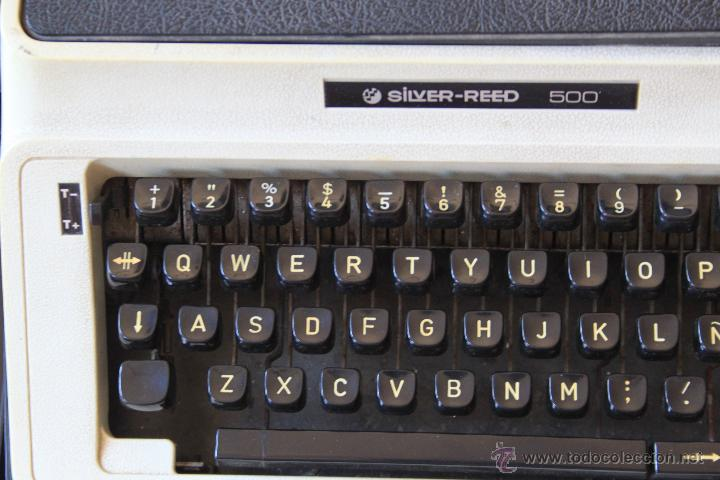 Antigüedades: Máquina de escribir antigua marca Silver Reed - Foto 4 - 50645630