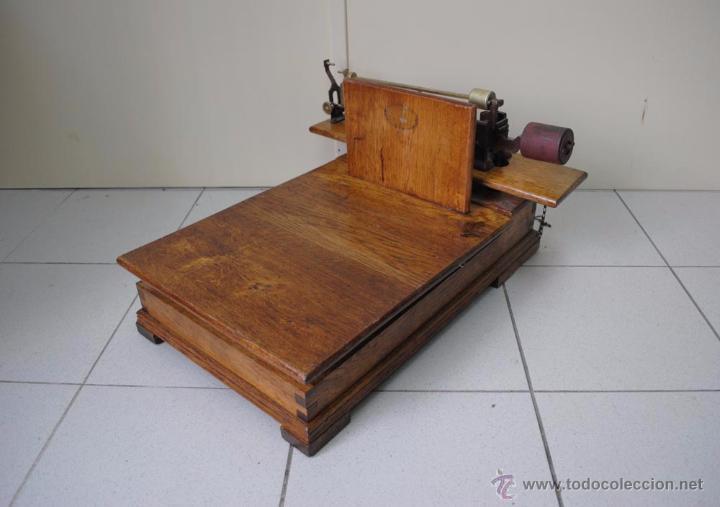 Antigüedades: BÁSCULA DE MADERA - Foto 3 - 50648872