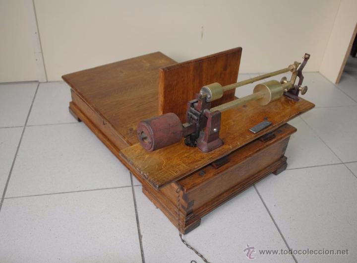 Antigüedades: BÁSCULA DE MADERA - Foto 6 - 50648872