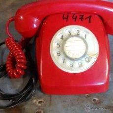 Teléfonos: TELÉFONO ROJO, SIN TECLAS, CON NÚMEROS EN DISCO. Lote 50691983
