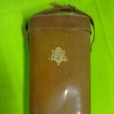 Antigüedades: FUNDA CUERO BINOCULARES PRISMATICOS.. Lote 50702854