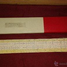 Antigüedades: REGLA DE CALCULO ARISTO. Lote 50743783