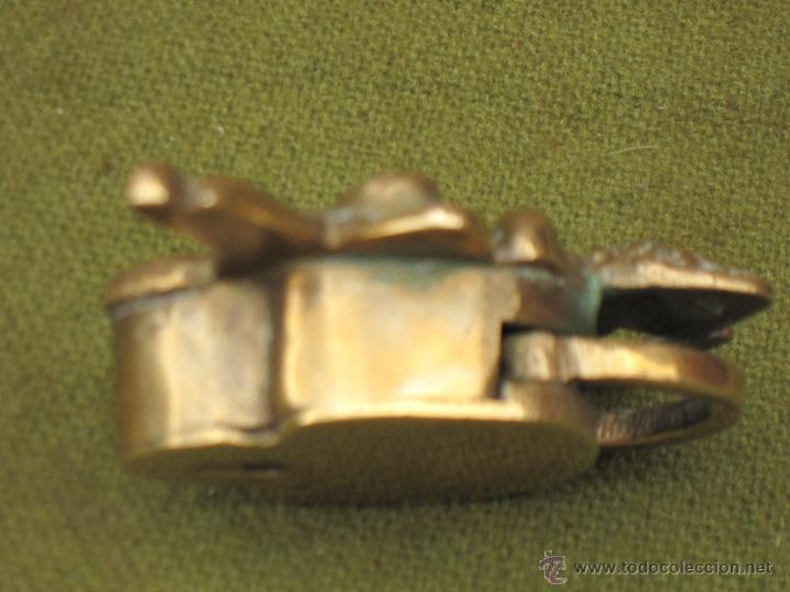 Antigüedades: CANDADO ANTIGUO DE COLECCION EN BRONCE. - Foto 4 - 50750961