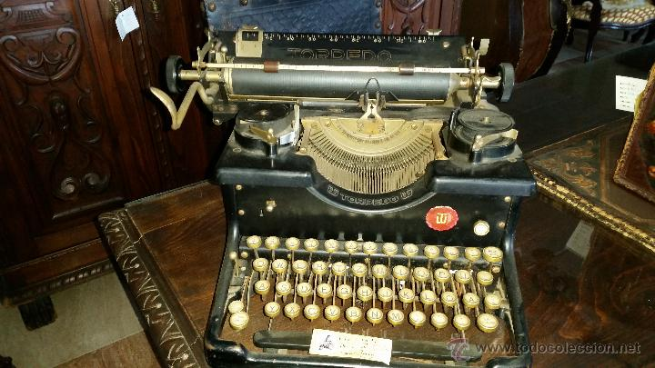 MAQUINA DE ESCRIBIR TORPEDO (Antigüedades - Técnicas - Máquinas de Escribir Antiguas - Otras)