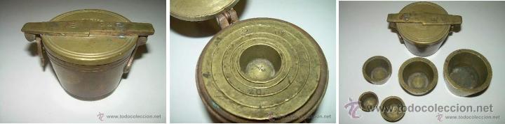 Antigüedades: PONDERALES PARA PESAR POLVO DE ORO. - Foto 9 - 29427172