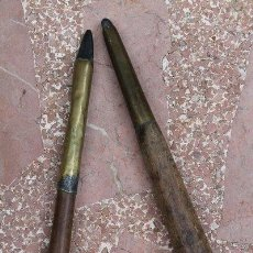 Antigüedades: JUEGO DE DOS BRUÑIDORES ANTIGUOS. INSTRUMENTOS PARA BRUÑIR.. Lote 50875075