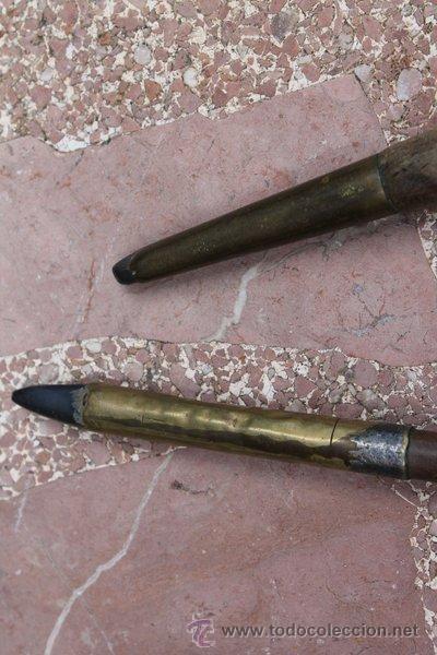Antigüedades: Juego de dos bruñidores antiguos. Instrumentos para bruñir. - Foto 3 - 50875075