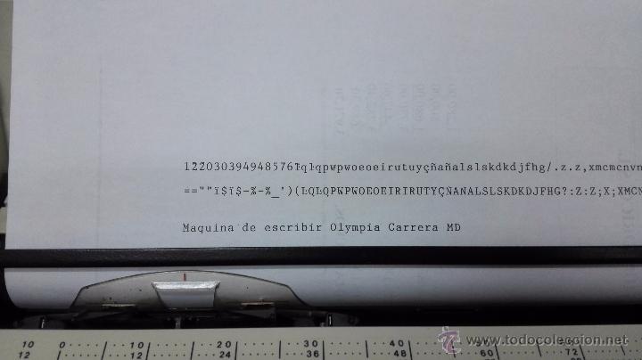 Antigüedades: Maquina de escribir Olympia carrera MD. Funcionando. - Foto 3 - 50932112