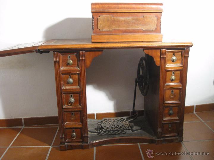 Antigüedades: Máquina de coser Wertheim - Foto 2 - 50969175