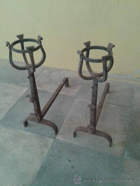 MORILLOS DE GRAN CALIDAD S XIX (Antigüedades - Técnicas - Cerrajería y Forja - Forjas Antiguas)