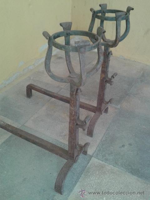 Antigüedades: morillos de gran calidad s XIX - Foto 2 - 50981436