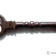 Antigüedades: LLAVE 19,5 CM EN HIERRO FORJADO. S XVII. EXCELENTE CALIDAD Y ARTE. Lote 50996636