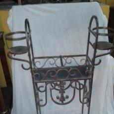 Antigüedades: MACETERO DE HIERRO - FORJA. Lote 51002078