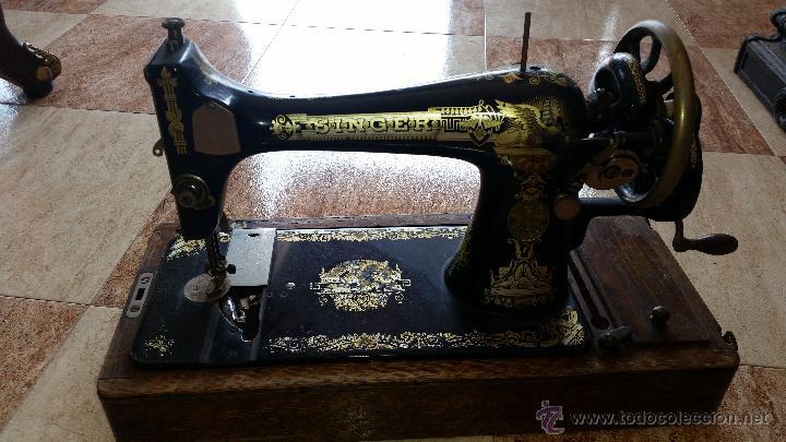 MAQUINA DE COSER PORTABLE SINGER MUY ANTIGUA (Antigüedades - Técnicas - Máquinas de Coser Antiguas - Singer)