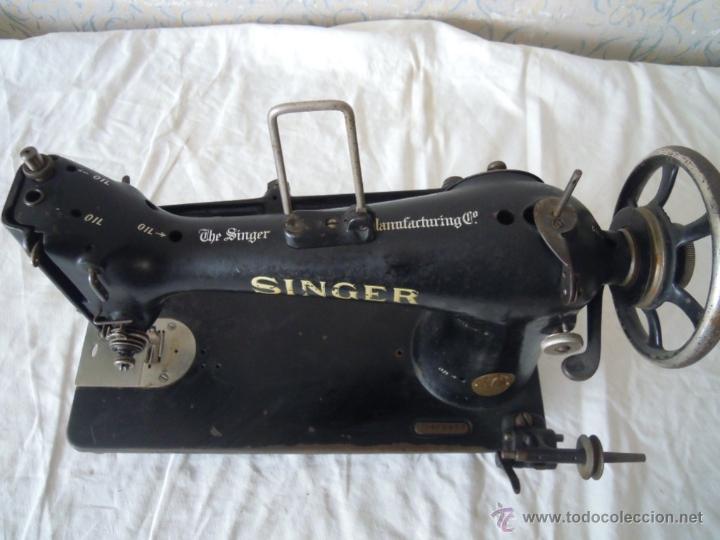 Antigüedades: MAQUINA DE COSER SINGER SERIE Y TIPO INDUSTRIAL DE 1929 - Foto 5 - 51049298