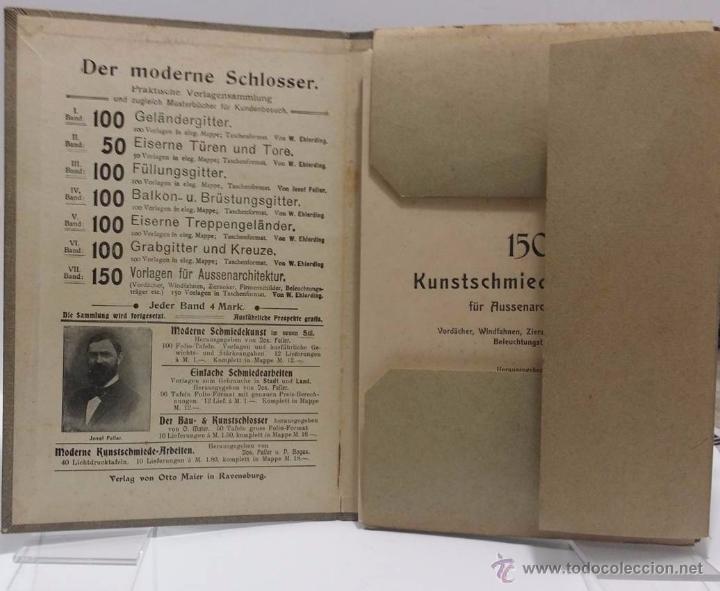 Antigüedades: DER MODERNE SCHLOSSER Ca.1.900- CATALOGO DE ELEMENTOS ARQUITECTURA FORJA ART NOUVEAU - Foto 2 - 51054564
