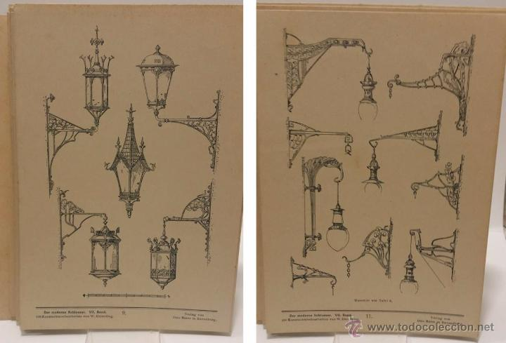 Antigüedades: ANTIGUO CATALOGO DE ELEMENTOS ARQUITECTURA FORJA ART NOUVEAU- DER MODERNE SCHLOSSER C.1.900 - Foto 4 - 51054564