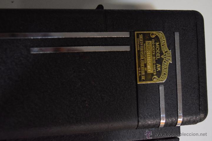 Antigüedades: proyector en su maleta original.USA años 20 - Foto 3 - 51073167