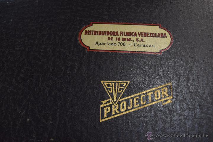 Antigüedades: proyector en su maleta original.USA años 20 - Foto 5 - 51073167
