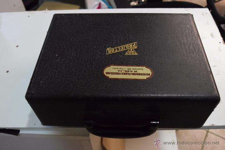 Antigüedades: proyector en su maleta original.USA años 20 - Foto 6 - 51073167