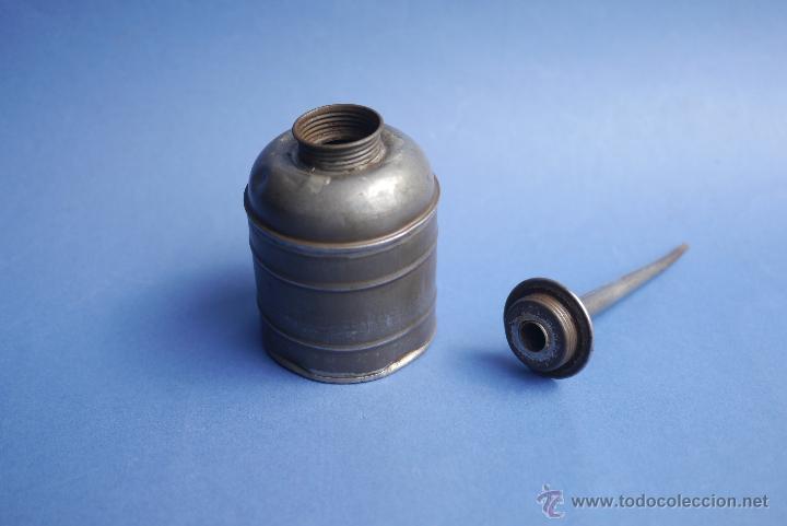 Antigüedades: ACEITERA DE TREN? DE 22 CM DE ALTO - Foto 3 - 51115495