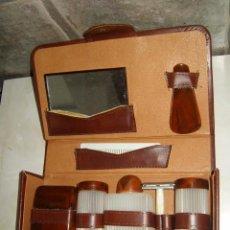 Antigüedades: ANTIGUO SET DE AFEITADO,NECESER DE CABALLERO.. Lote 73355170