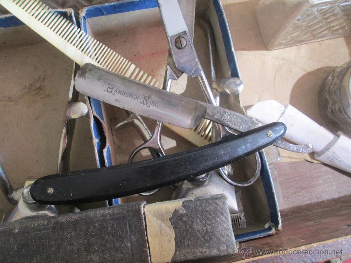 Antigüedades: bonita maleta de barbero antigua con sus erramienta completa - Foto 6 - 51137327