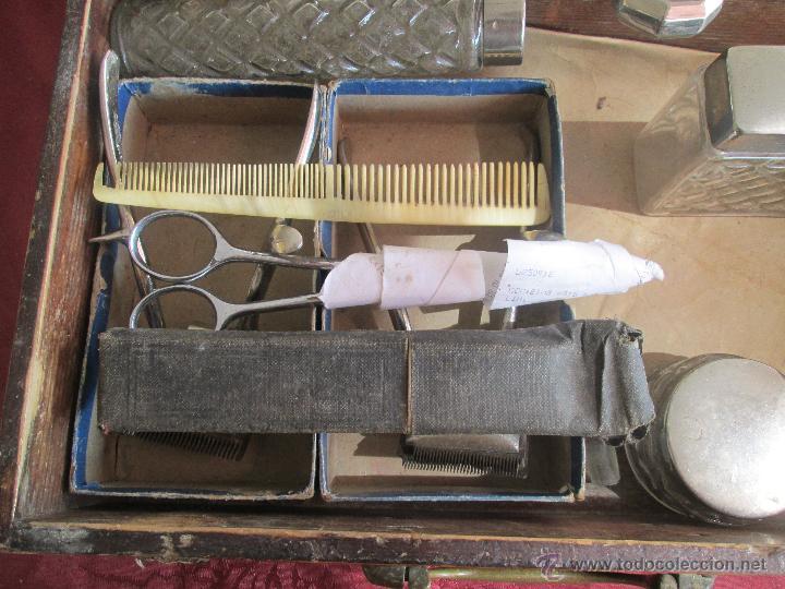 Antigüedades: bonita maleta de barbero antigua con sus erramienta completa - Foto 8 - 51137327