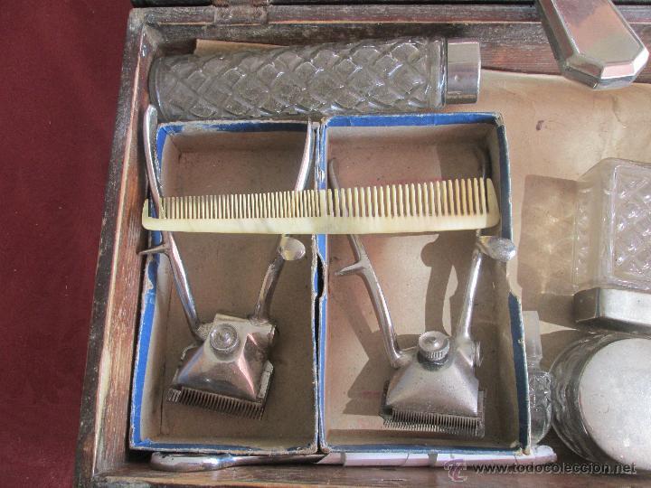 Antigüedades: bonita maleta de barbero antigua con sus erramienta completa - Foto 11 - 51137327