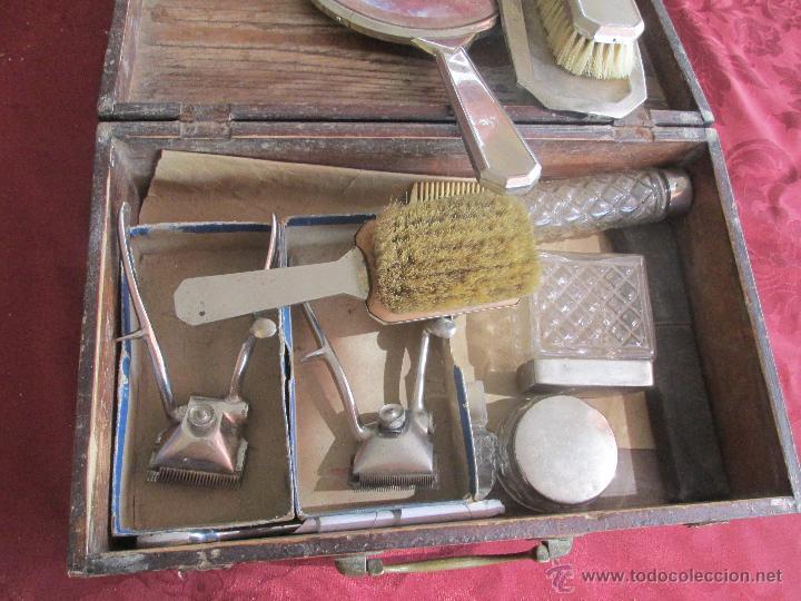 Antigüedades: bonita maleta de barbero antigua con sus erramienta completa - Foto 12 - 51137327