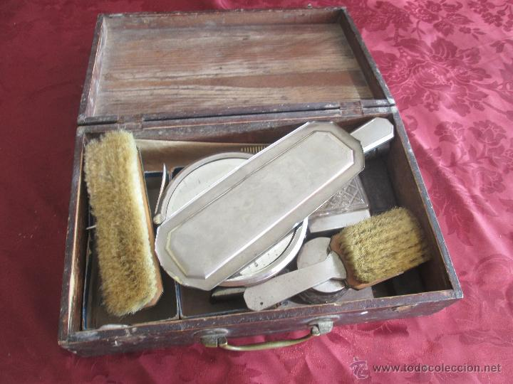 Antigüedades: bonita maleta de barbero antigua con sus erramienta completa - Foto 13 - 51137327