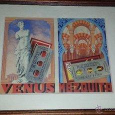 Antigüedades: HOJA DE AFEITAR- DIBUJO ORIGINAL PINTADO A MANO PUBLICIDAD VENUS,MEZQUITA.. Lote 51135377
