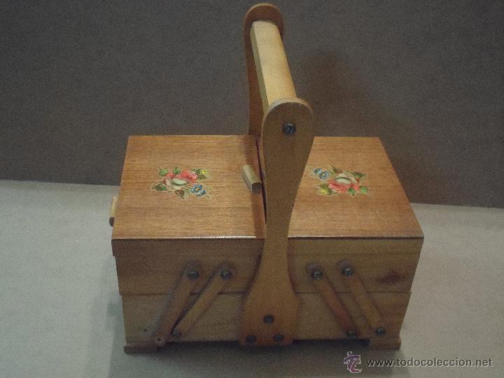 COSTURERO DE MADERA (Antigüedades - Técnicas - Máquinas de Coser Antiguas - Complementos)