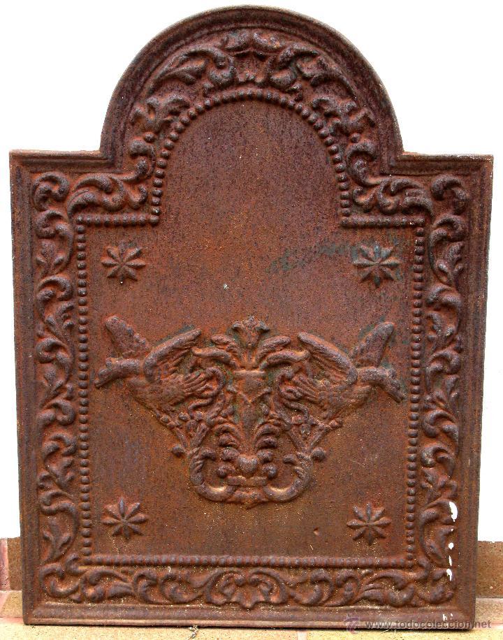 Antigua placa de hierro fundido para chimenea comprar for Chimenea hierro fundido