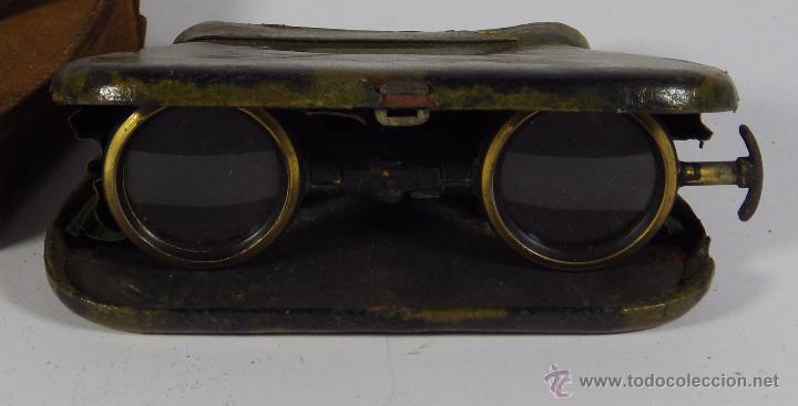 BINOCULARES PLEGABLES DE TEATRO MUY ANTIGUOS SIGLO XVIII MARCA LA MIGNONNE (Antigüedades - Técnicas - Instrumentos Ópticos - Binoculares Antiguos)