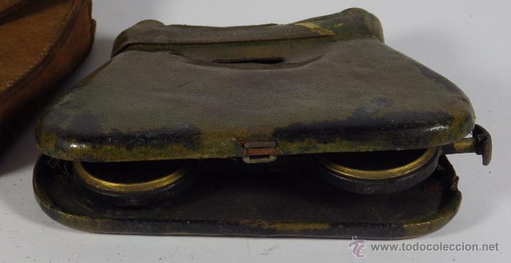 Antigüedades: BINOCULARES PLEGABLES DE TEATRO MUY ANTIGUOS SIGLO XVIII MARCA LA MIGNONNE - Foto 2 - 51186102
