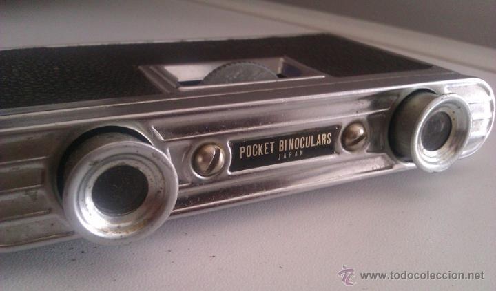Antigüedades: ANTIGUOS BINOCULARES PRISMATICOS DE OPERA Y TEATRO POCKET BINOCULARS JAPAN AÑOS 50/60 - Foto 2 - 51186450