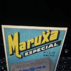 Antigüedades: HOJA DE AFEITAR-LAMETTA DA BARBA - RAZOR BLADE - CAJA EXPOSITOR COMPLETA 100 HOJAS.MARUXA ESPECIAL. Lote 51198053