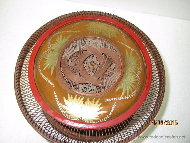 Antigüedades: Antigua Caja Costurero o Similar en Fibras Vegetales, Metal y Materiales Nobles - Año 1920s. - Foto 4 - 51236040