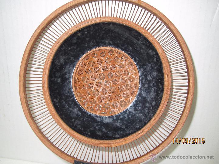 Antigüedades: Antigua Caja Costurero o Similar en Fibras Vegetales, Metal y Materiales Nobles - Año 1920s. - Foto 10 - 51236040