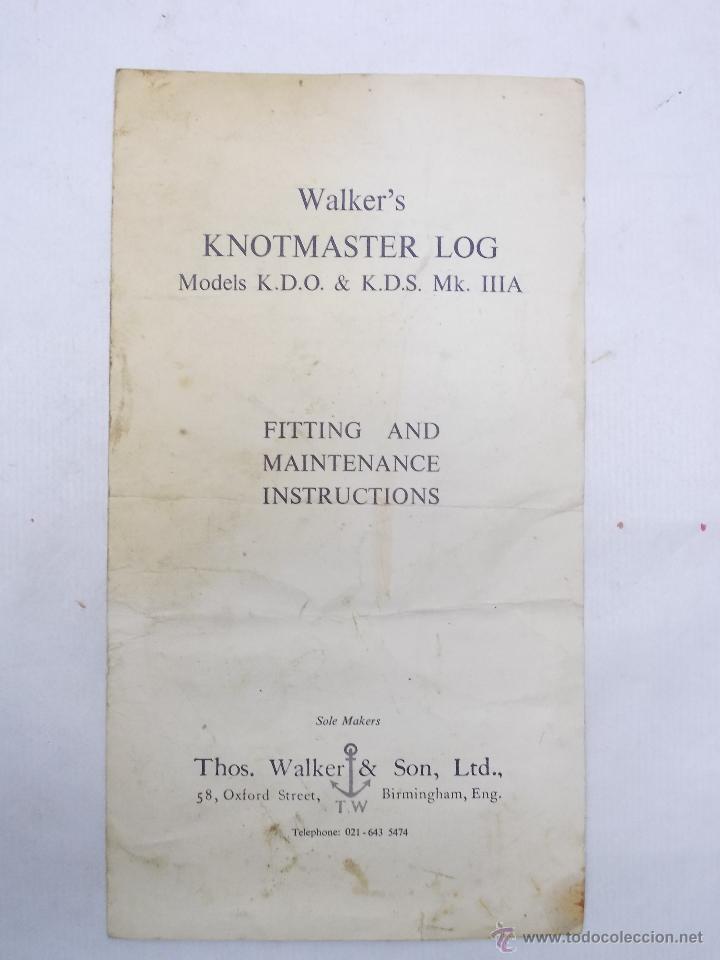 CORREDERA WALKER'S KNOTMASTER, INSTRUCCIONES (Antigüedades - Antigüedades Técnicas - Marinas y Navales)