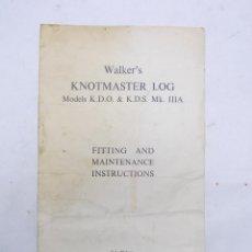 Antigüedades: CORREDERA WALKER'S KNOTMASTER, INSTRUCCIONES. Lote 51355523